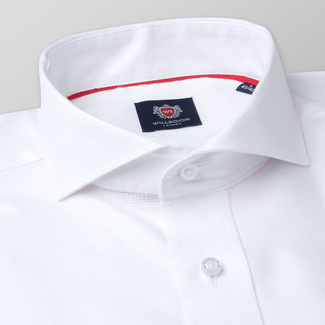 Classic men's shirt in white color 11376, Willsoor