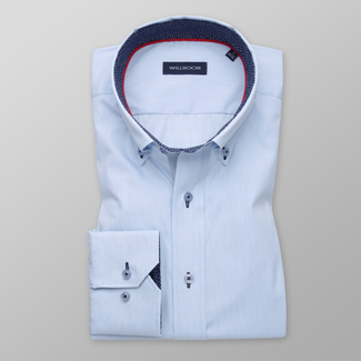 Men's Slim Fit shirt with fine pattern and contrast elements 11377, Willsoor