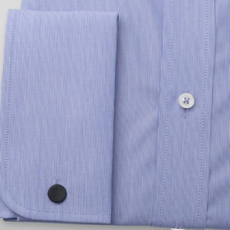 Men's Slim Fit shirt in blue color with striped pattern 11383, Willsoor