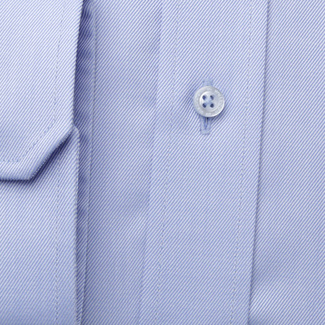 Men's Slim Fit shirt in blue with fine striped pattern 11387, Willsoor