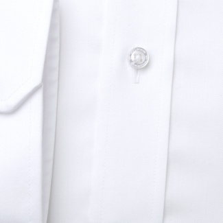 Men's Slim Fit shirt in white with smooth pattern 11391, Willsoor