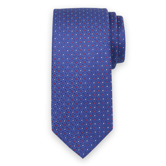 Classic tie in blue color with check pattern 11554, Willsoor