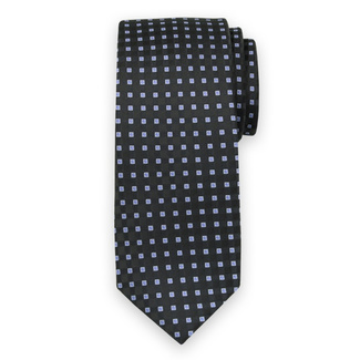 Classic tie with blue check pattern 11564, Willsoor
