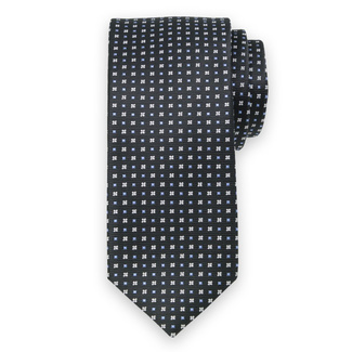 Classic tie with fine geometric pattern 11566, Willsoor