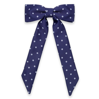 Women's bow tie in dark blue color with white pattern 11630, Willsoor