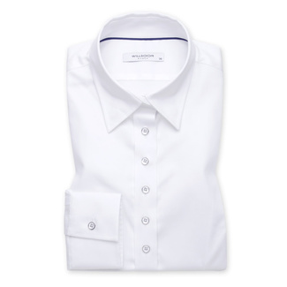 Women's shirt in white color with smooth pattern 11639