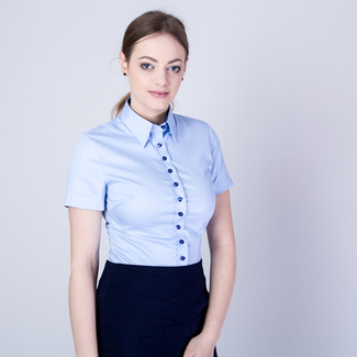 Women's shirt in light blue color 11662, Willsoor