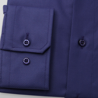 Men's slim fit shirt in dark blue color 11680