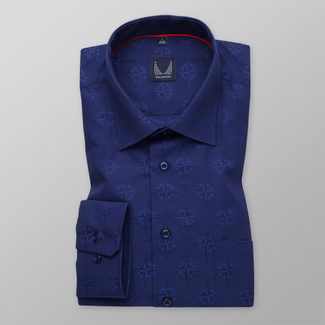 Men's classic shirt in dark blue 11694