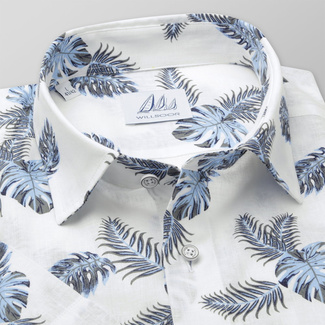 Men's Slim Fit shirt with leaves print 11776, Willsoor
