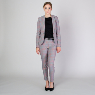 Women's suit jacket with red check pattern 11782, Willsoor