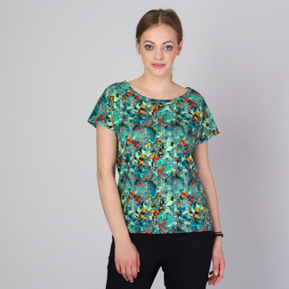 Women's t-shirt with plant print 11787, Willsoor
