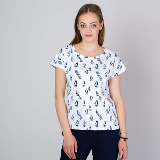 Women's t-shirt with sailing boat print 11789, Willsoor