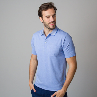 Men's polo shirt in light blue color 11792, Willsoor