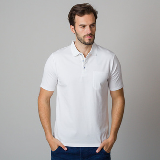 Men's polo shirt in white color 11793, Willsoor