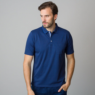 Men's polo shirt in dark blue color 11795, Willsoor