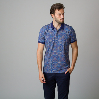 Men's shirt with blue oriental pattern 11843, Willsoor