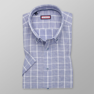 Men's classic shirt inlight blue with white pattern 11873, Willsoor