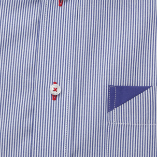 Men's Slim Fit shirt with fine striped pattern 11886, Willsoor