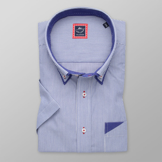 Men's classic shirt with fine striped pattern 11888, Willsoor