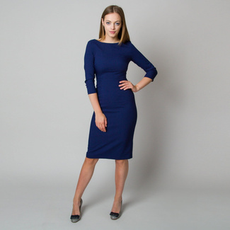Midi dress in dark blue color 11899