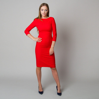 Midi dress in red color 11901, Willsoor