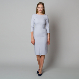 Midi dress in light grey color 11902, Willsoor