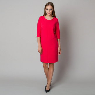 Midi dress in raspberry color 11903