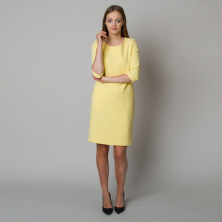 Midi dress in light yellow color 11905, Willsoor