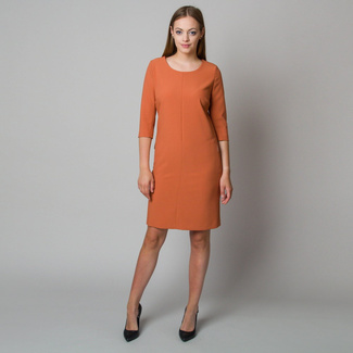 Midi dress in brick color 11907
