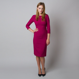 Midi dress in fuchsia color 11925, Willsoor