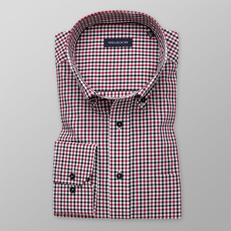 Men's shirt classic with red a black pattern 11997