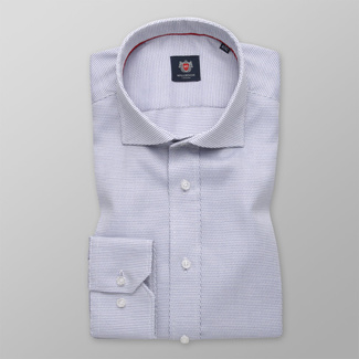 Men' Slim Fit shirt with delicate blue pattern 12103, Willsoor
