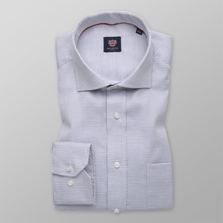 Men's classic shirt with delicate blue pattern 12104, Willsoor