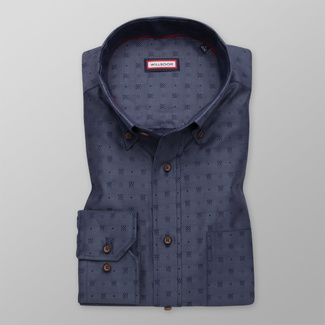 Men's classic shirt with fine geometric patterns 12106, Willsoor