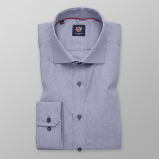 Men's Slim Fit shirt in light blue with fine pattern 12291, Willsoor