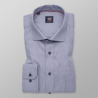Men's classic shirt in light blue with fine pattern 12292, Willsoor