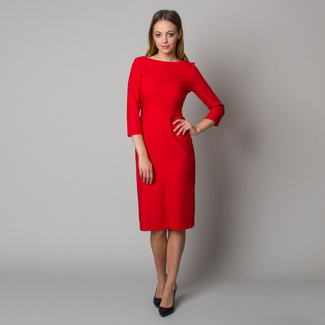 Midi dress in red color 12398, Willsoor