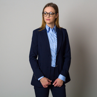 Women' suit jacket in dark blue color 12420, Willsoor