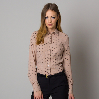 Women shirt in beige color with dots 12555