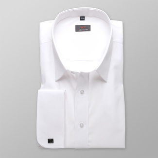 Men shirt WR Classic in white color (height 176-182 I 188-194) 4573, Willsoor