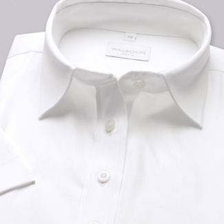 Women shirt Willsoor 4786 with short sleeve in white color