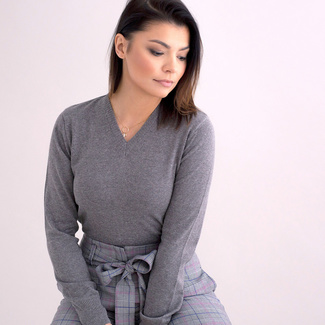 Women's sweater Willsoor 5146 in gray color, Willsoor
