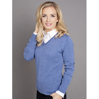 Women's sweater Willsoor 5200 in light blue color, Willsoor