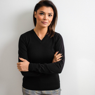 Women's sweater Willsoor 5202 in black color, Willsoor