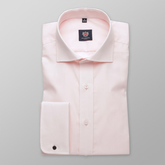 Men slim fit shirt London (height 164-170) 5969 in pink color with formula 2W Plus, Willsoor