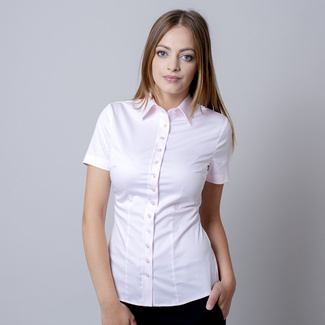 Women shirt Willsoor 6181 with short sleeve in pink color