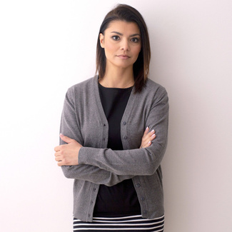Women's sweater Willsoor 8133 in gray color, Willsoor