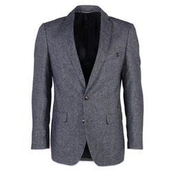 Men classic suit jacket Willsoor (height 164-170 I 176-182) 8483 in gray color, Willsoor
