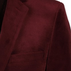 Men suit jacket Willsoor (height 176-182) 8655 in claret color, Willsoor